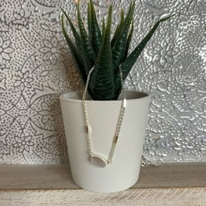 Kendra Scott Silver Oval Necklace